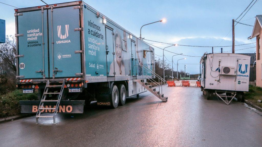 camion sanitario en barrio malvinas