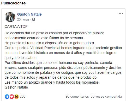 Photo of Gaston Natale pidió disculpas por las redes sociales